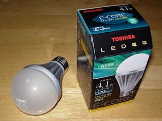 東芝LED電球 LEL-AW4N/2
