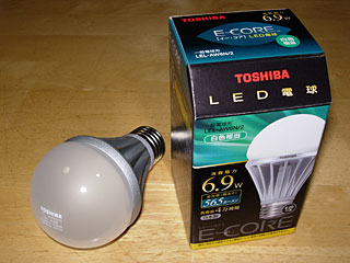 東芝LED電球 LEL-AW6N/2