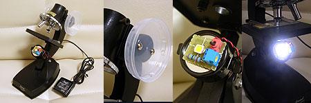 手持ちのホビー顕微鏡を小細工しました