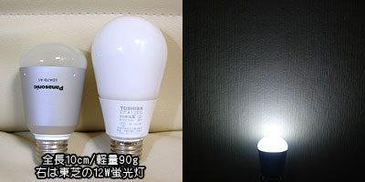 サイズ比較と点灯具合