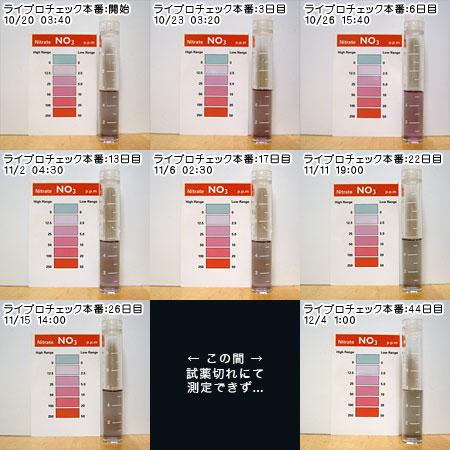 10/20~12/04の硝酸値の変移