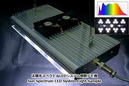 太陽光スペクトルLEDシステム照明デモ機