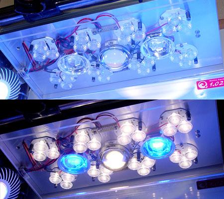 太陽光LEDシステムデモ機の発光面