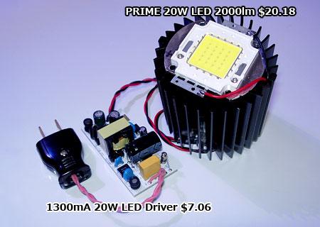 20W白色LEDモジュール点灯テスト内容