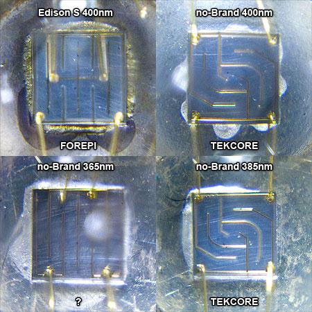 ノーブランドLED素子(汎用パッケージ型)のUV系チップ