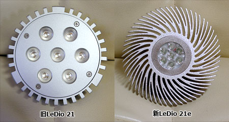 LeDio 21新旧比較:外観