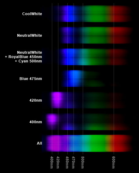 KR93SP 分光器によるスペクトル分布