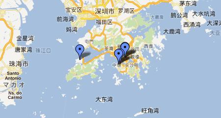 香港周辺地図