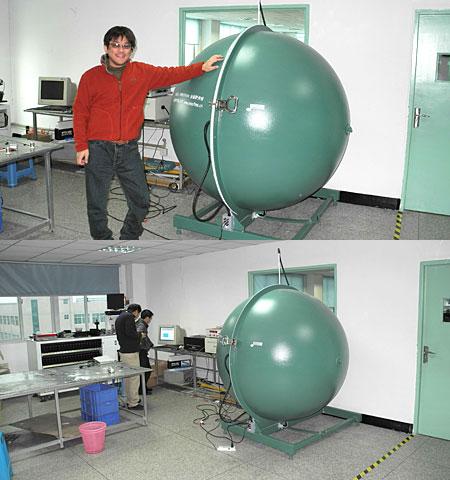照明機器の光束・スペクトルを計測する積分球システム