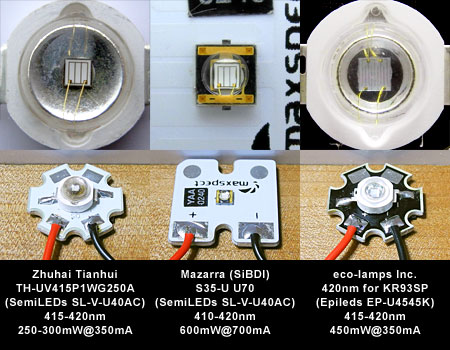 420nm LED素子対決