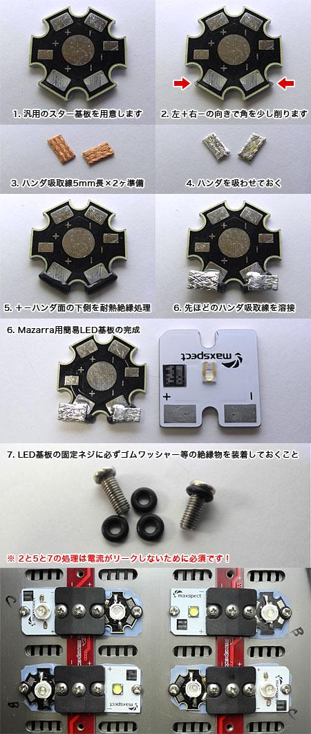 汎用スター基板をMazarra用に小細工する方法