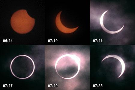 金環日食の変化