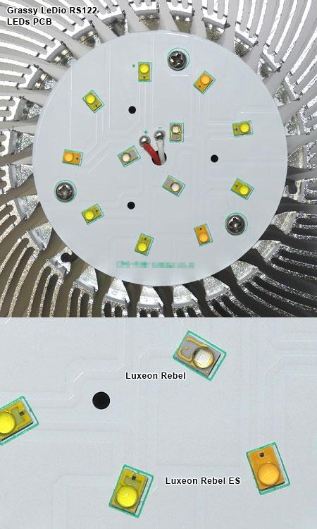 LED基板と新採用Luxeon Rebel