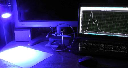 スペクトルメーター測定風景