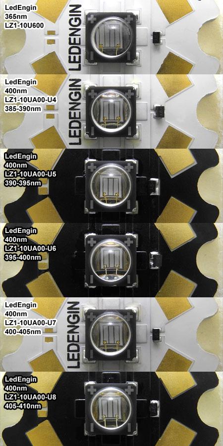 LedEngin 400nm 波長ランク違い