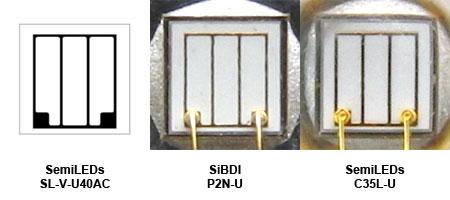SemiLEDs社 SL-V-U40ACチップ