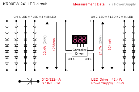 KR90FW-24 LED回路構成