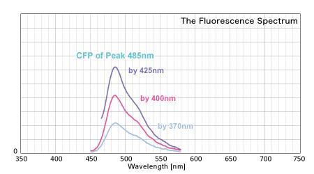 反射スペクトルから得られた蛍光スペクトル