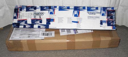 独と米国から通販した商品が到着