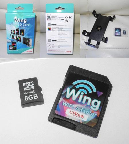UPRtek Wing WiFi SDカード