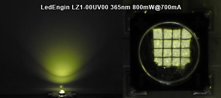 LedEngin LZ1-10UV00 UV 365nm 発光色