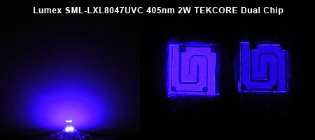Lumex SML-LXL8047UVC 405nm 2W 発光色