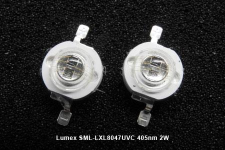 Lumex SML-LXL8047UVC 405nm 2W