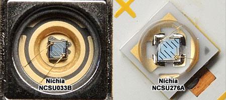 日亜UV 365nm LED チップ比較