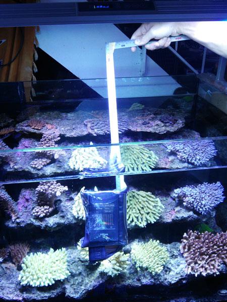 フルスペ水槽の水深スペクトルの測定風景(笑)
