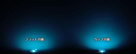 自作向け最新LED素子のカップ台座の集光効果