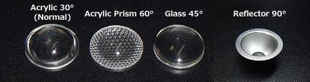 アクリル/アクリルプリズム/ガラスレンズ、リフレクター