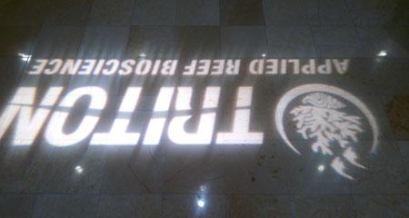 ホテルのロビーの床にTRITON