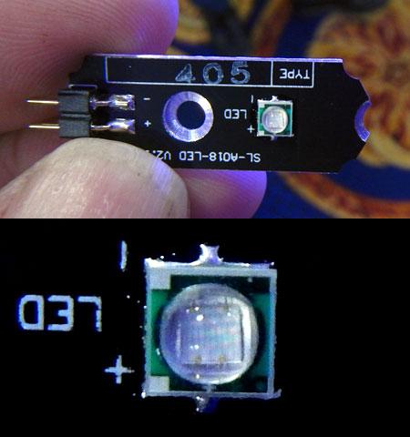 SANRISE PLUSに採用されてるUV 405nm素子