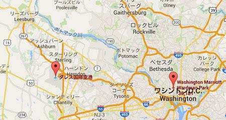 ワシントンD.C. 周辺マップ
