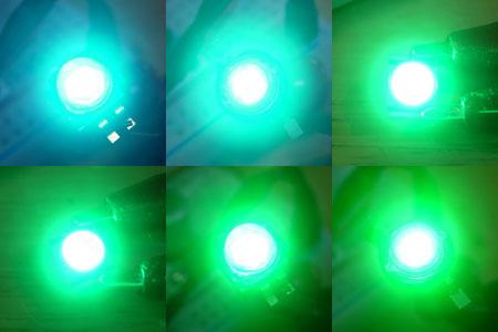 シアンLED発光色