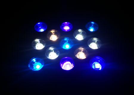 UV素子とレンズ交換後の点灯具合