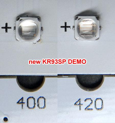 新型KR93デモ機のUV系LED素子