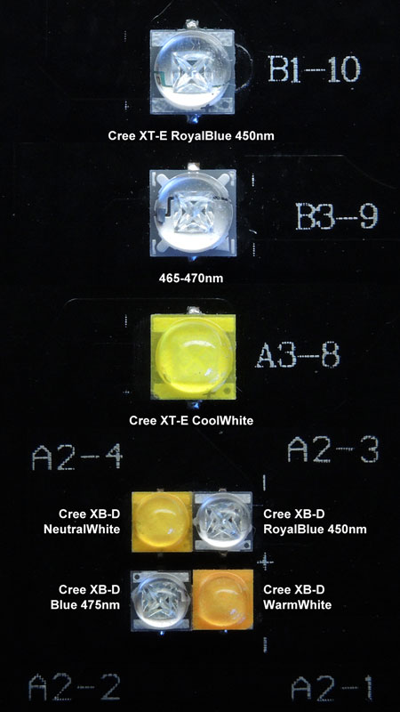 Maxspect Razor 15000K 180W:白系/青系LED素子群