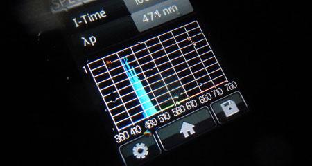 ホタルイカの発光スペクトル b