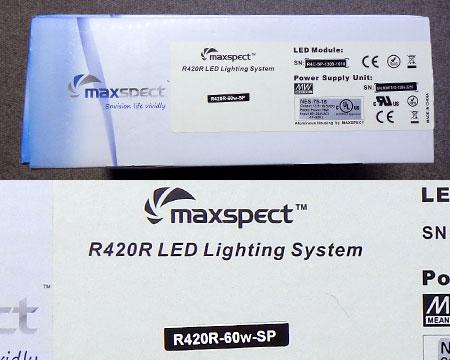 Maxspect R420R 60W SP パッケージ