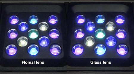 発光比較:純正レンズ vs ガラスレンズ