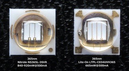 365nm UV LED:Nitride vs Lite-On