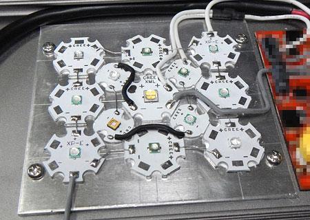 Maxspect Razor 自作LED基板完成品の組み込み