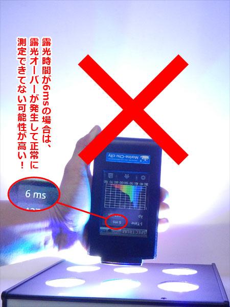 不適切な測定距離と怪しい露光時間による測定