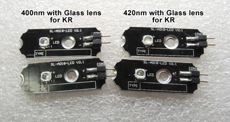 AQUA SANRISE PLUS MMCスペシャル R30 UV素子換装後のLED基板