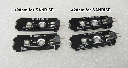 AQUA SANRISE PLUS MMCスペシャル R30 UV素子換装前のLED基板