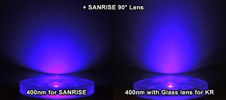 AQUA SANRISE PLUS MMCスペシャル UV素子+レンズ ビーム比較